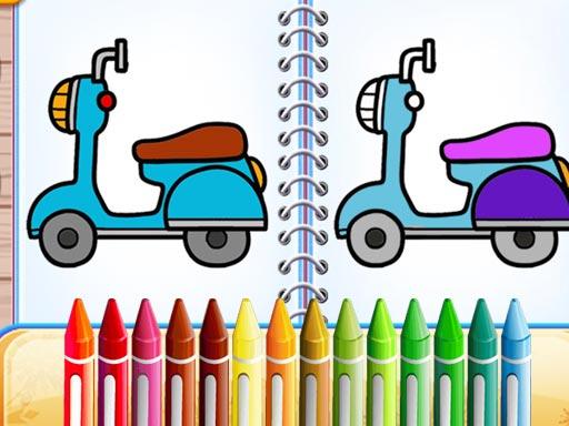 Cute Bike Coloring Book